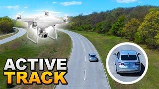 DJI Phantom 4: Active Tracking While Driving