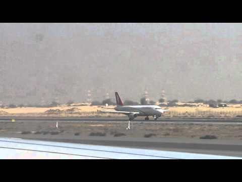 airarabia A320 taxing at sharjah international airport
