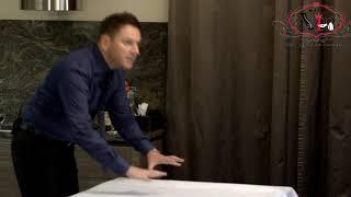 Как менять скатерть. Как складывать скатерть. /How to Fold a Tablecloth like a Pro