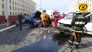 видео Водитель Audi A6 из России напал на неопытного водителя Suzuki на минском проспекте