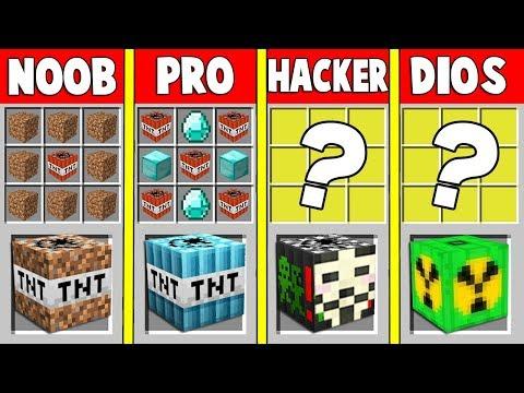 ¡TNT NOOB VS TNT PRO VS TNT HACKER VS TNT DE DIOS 💥😱! - MINECRAFT