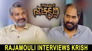 Rajamouli Interviews Krish About Gautamiputra Satakarni || Balakrishna, Shriya