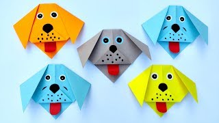How to make a Paper Dog Tutorial | Paper Puppy Crafts | Easy Origami Dog