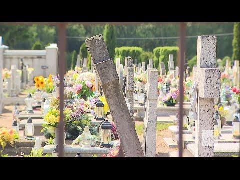 Wypadek na cmentarzu