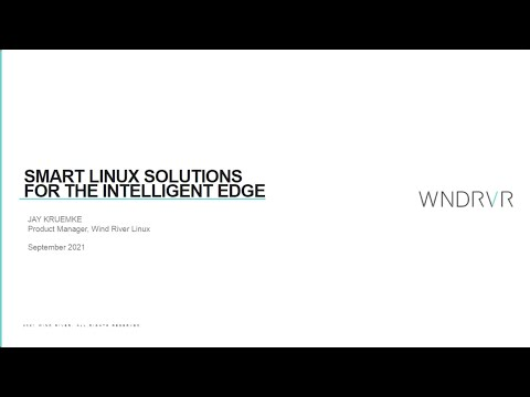 Smart Linux Solutions For The Intelligent Edge Webinar