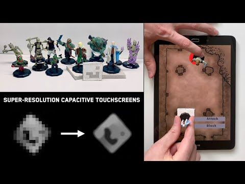 Super-Resolution Capacitive Touchscreens