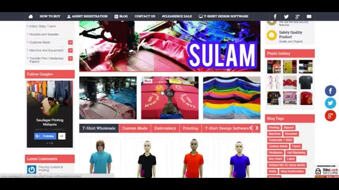 Shirt design software - T Shirt Design Software By Saudagar Printing Malaysia