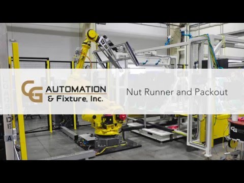 CG Automation and Fixture Auto Nut Runner and Packout Cell