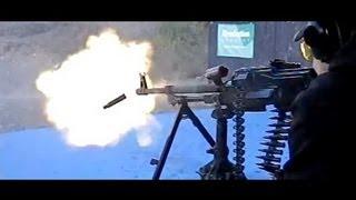 pkm belt fed machine gun in super slow motion 600 frames sec