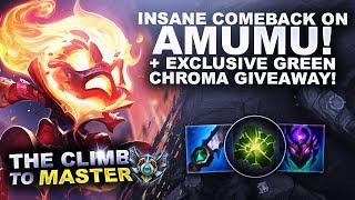INSANE COMEBACK ON AMUMU JUNGLE! + Exclusive Green Chroma Giveaway! | League of Legends