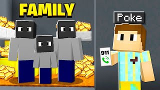 My Family Were Secretly CRIMINALS.. I Called COPS! (Minecraft)