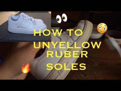How To: Unyellow Rubber Soles | @solegoodspdx