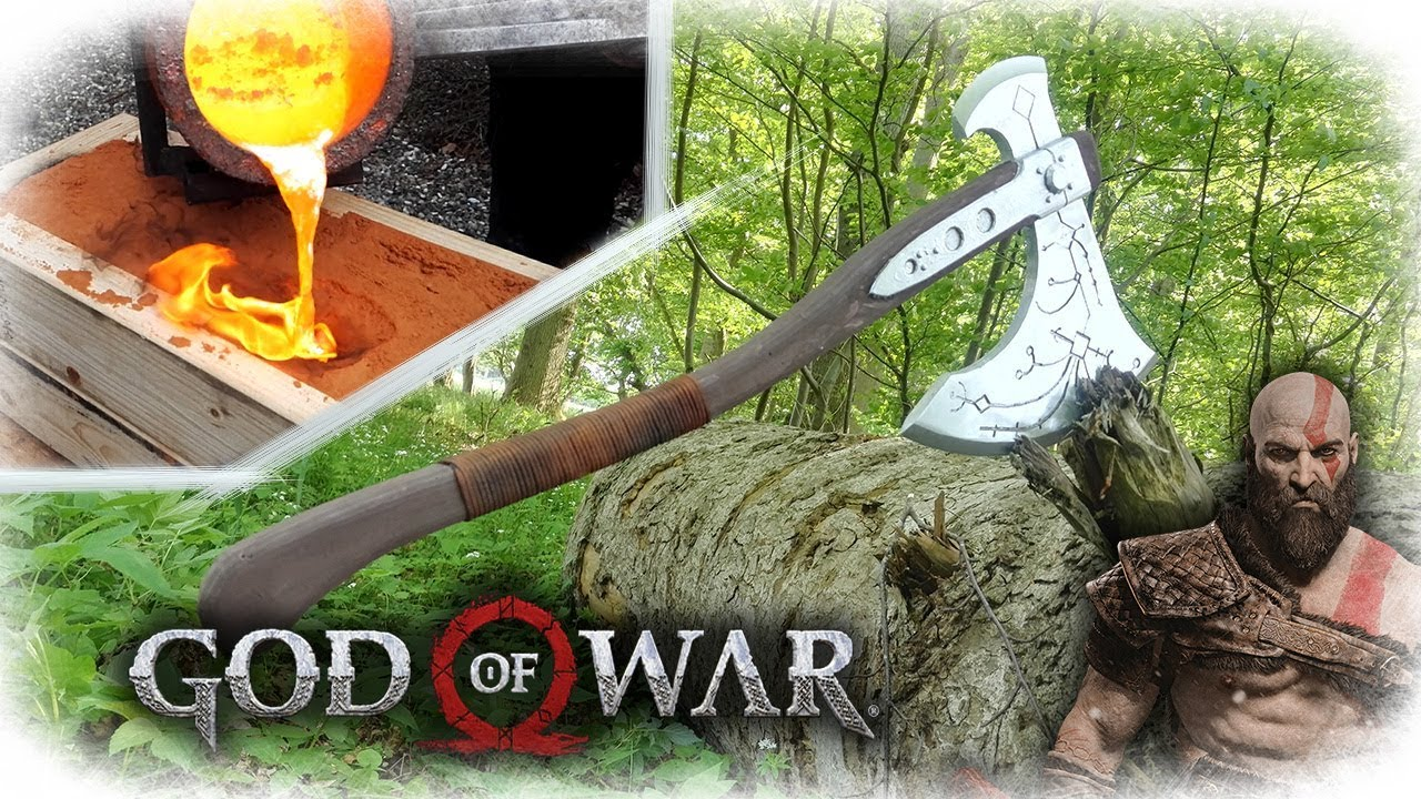Making Kratos Axe - God Of War (Aluminum Casting)