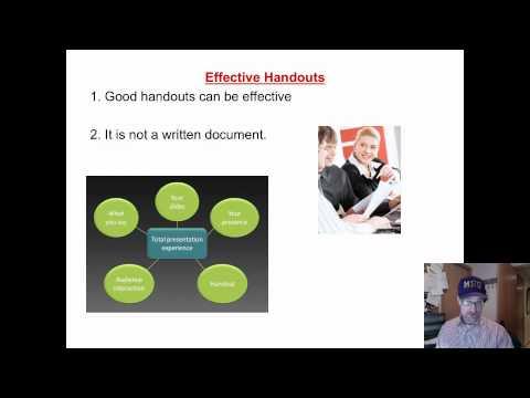 EFFECTIVE PRESENTATIONS: HANDOUTS