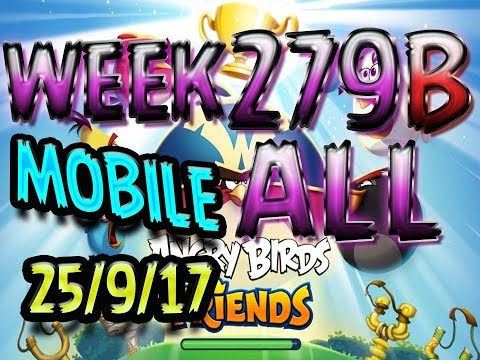 Angry Birds Friends Tournament All Levels Week 279-B  MOBILE Highscore POWER-UP walkthrough
