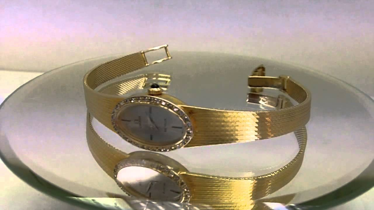 Omega De Ville Swiss Made 18k All Yellow Gold Ladies