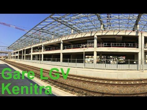 Gare LGV de Kenitra 2017 en construction  القنيطرة