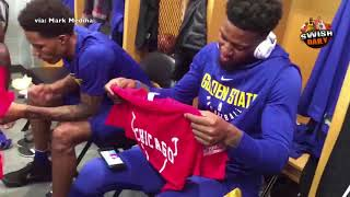 Guy in Chicago gives Jordan Bell shirts with $3.5 mil on the back, the amount the Bulls sold him for