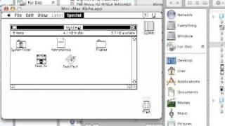 Oscar The Grouch on Mac Plus Trash (System 7)