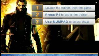 The latest Deus Ex Human Revolution cheats trainer allows you to infinitely increase your health stamina energy and much more Instructions Launch the