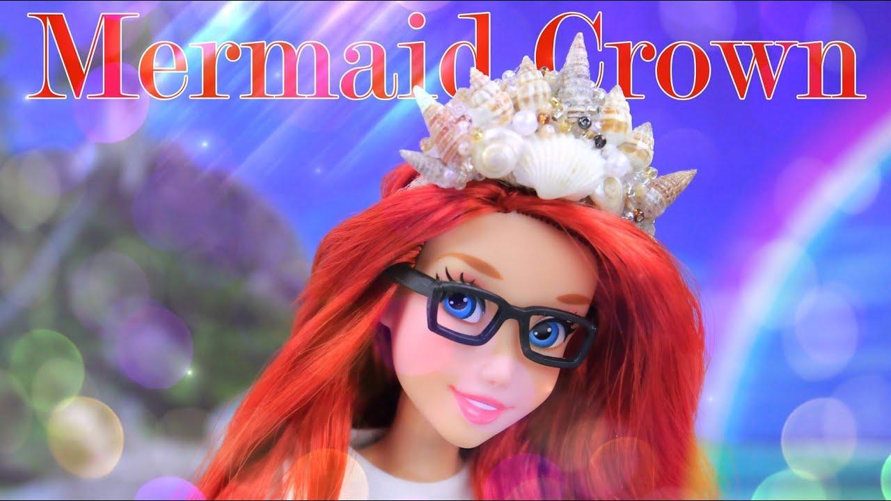 diy how to make doll mermaid crown plus resize u0026 mermaid bed