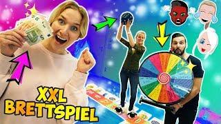 XXL BRETTSPIEL IN REAL LIFE! Geld-Zone, Challenge-Zone, Glücksrad! Gigantisches Board Game*SPANNEND*