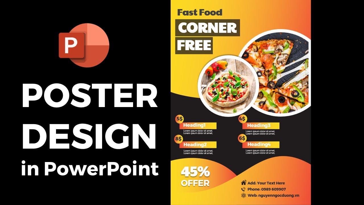 Hướng dẫn thiết kế Poster Quảng cáo bằng PowerPoint 🔥 Quá đơn giản