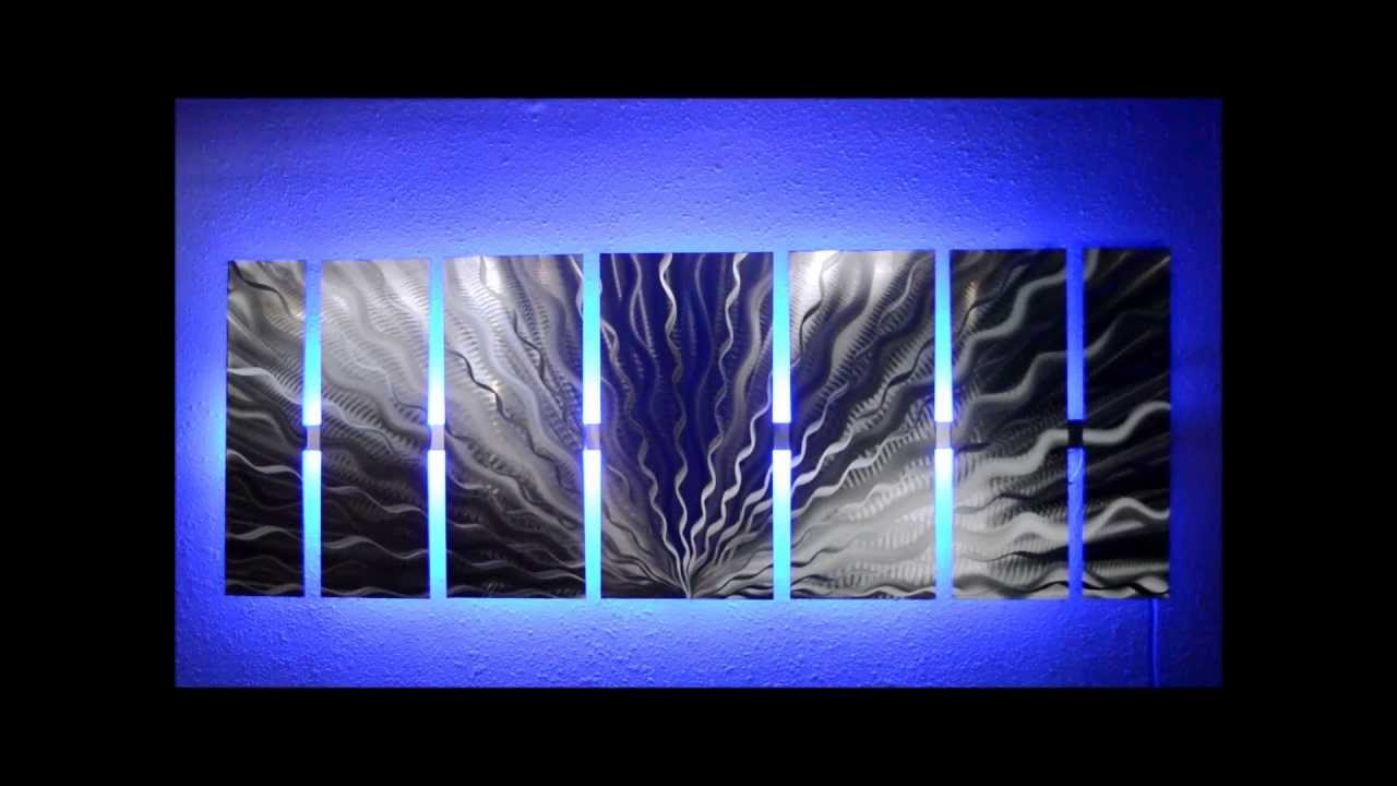 Attractive Silver Vibration LED Lighted Metal Wall Art By Brian M Jones   YouTube