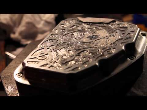 Harley Davidson Hand Engraved Lettering Cut Out By Shaun