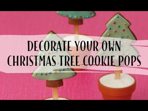 Decorating Christmas tree cookie pops - Tessa Whitehouse