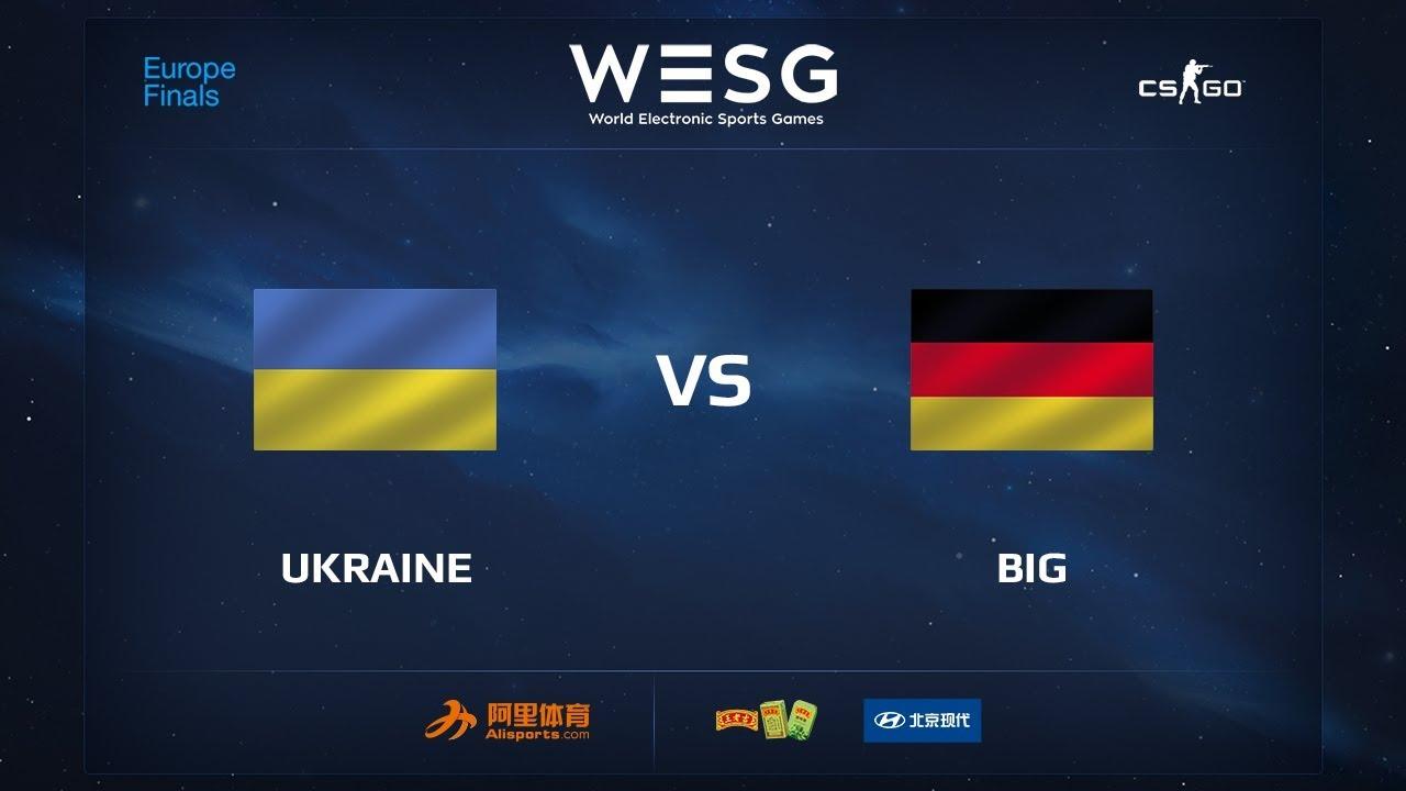 Ukraine vs BIG, map 2 cobblestone, WESG 2017 CS:GO European Qualifier Finals