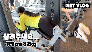 다이어트 브이로그   여자 헬스 초보의 등 운동, 하체…