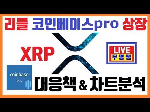 리플코인, xrp 코인베이스 프로 리플 상장, 차트분석, 대응방법 ...