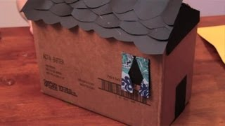 How To Decorate The Outside Of A Cardboard Box For A Dollhouse : Arts & Crafts