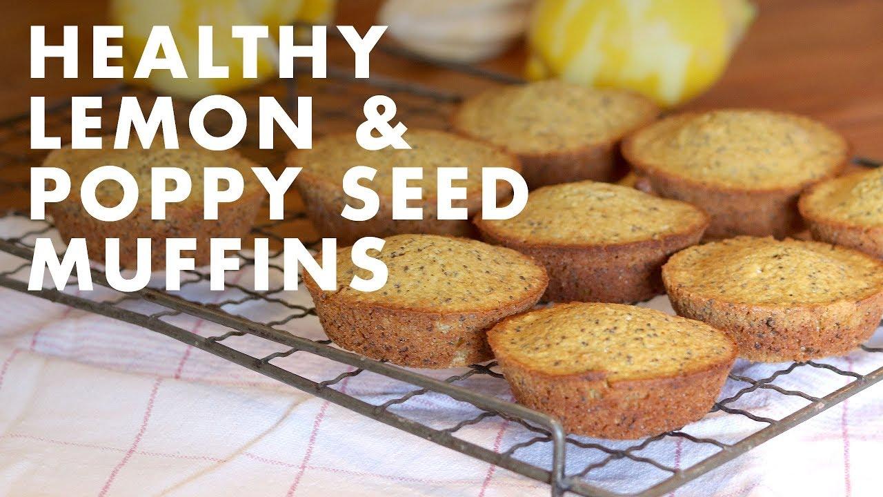 Healthy Lemon & Poppy Seed Muffins