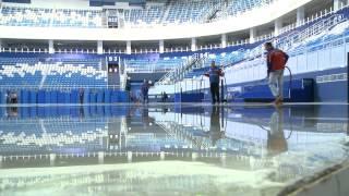 Наморозка льда во дворце зимнего спорта «Айсберг» (Сочи, Олимпстрой)