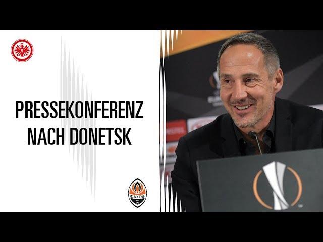 SGE - Donetsk: Pressekonferenz nach dem Spiel