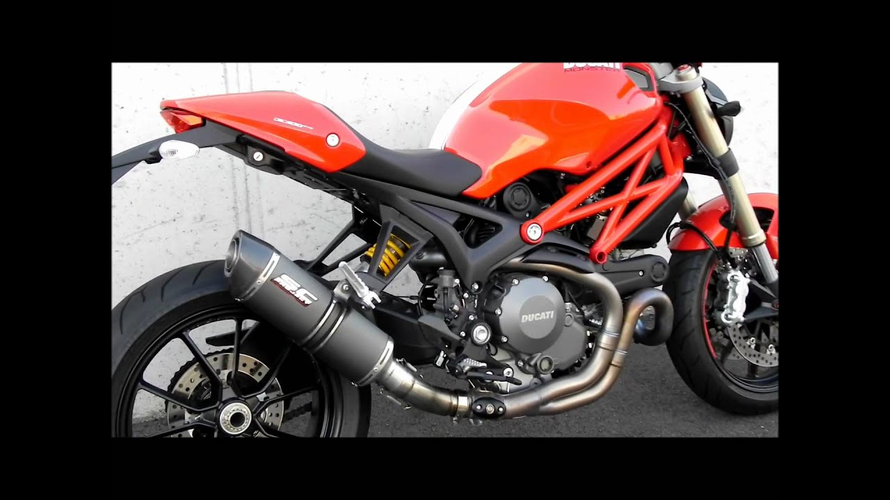DUCATI MONSTER 1100 EVO - SC-PROJECT EXHAUST - YouTube