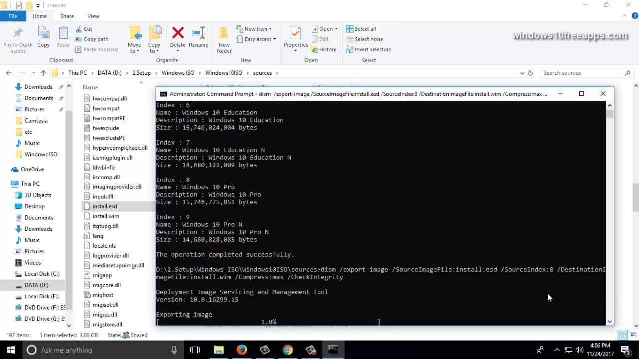 How To Get Install WIM From Windows 10 Installation File