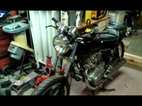 XS650 LED turn signal walkaround - YouTube