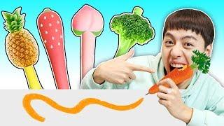 와 대박!!! 수박 당근 딸기 옥수수 야채 볼펜  Making Vegetable and Fruits Pen - 마슈토이 Mashu ToysReview