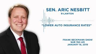 Sen. Nesbitt joins the Frank Beckman Show to discuss auto insurance reform