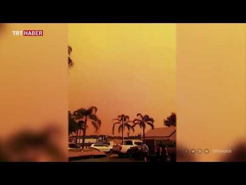 Avustralya'da orman yangınları gökyüzü rengini değiştirdi
