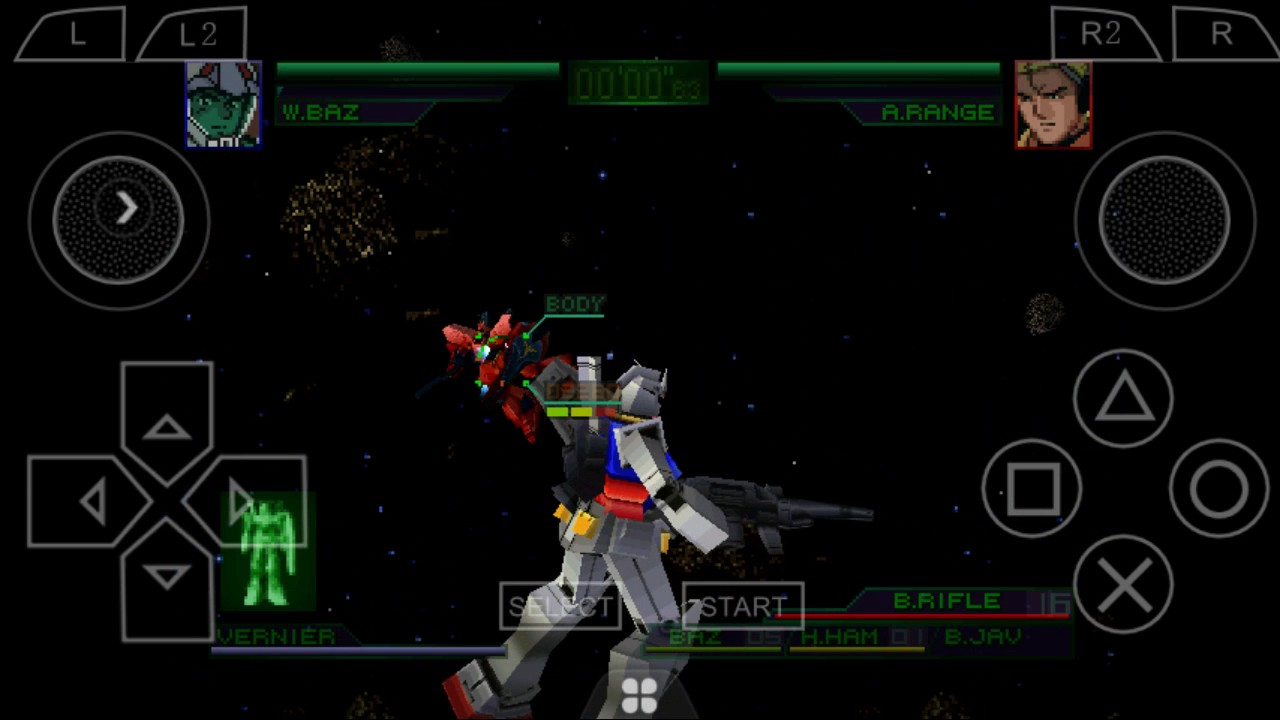 Mobile Suit Gundam Char S Counterattack Psx Android Emulator Youtube