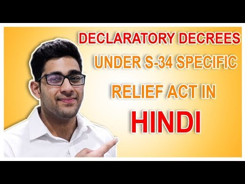 DECLARATORY DECREE I S-34 I SPECIFIC RELIEF ACT,1963 I EXPLAINED IN HINDI