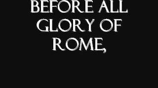 The gladiator, maximus hero of rome