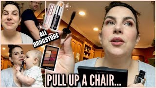 Very Casual Kitchen Table GRWM... ALL DRUGSTORE MAKEUP