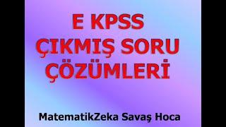 KPSS LİSE ÖNLİSANS SEVİYESİNDE EKPSS 2016  Çıkmış Soru Çözümleri