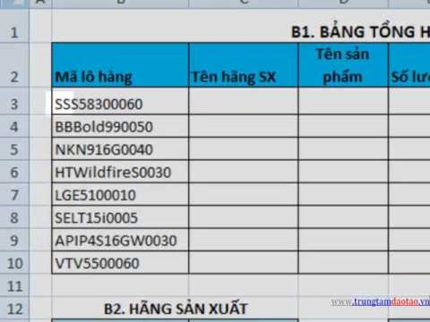 các hàm Excel thông dụng trong công việc