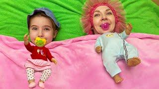 Мама и маша мешают куклам спать  Правила поведения для детей и мамы.